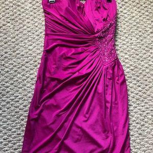 Magenta short dress